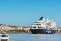 Beroemd Nederlands cruiseschip Prinsendam in Bordeaux, Frankrijk stock foto's