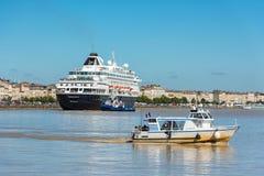 Beroemd Nederlands cruiseschip Prinsendam in Bordeaux, Frankrijk Stock Foto