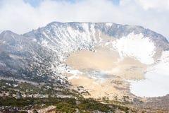 Beroemd oriëntatiepunt - Hallasan-berg vulkanische krater in Jeju royalty-vrije stock afbeeldingen