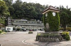 Beroemd oriëntatiepunt van Klokketoren in Fraser Hill, Maleisië stock afbeeldingen