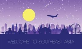 Beroemd oriëntatiepunt van Zuidoost-Azië royalty-vrije illustratie