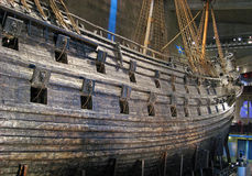 Beroemd oud vasa schip in Stockholm Stock Foto