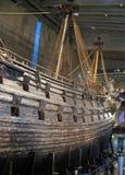 Beroemd oud vasa schip in Stockholm Royalty-vrije Stock Foto's