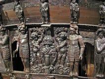Beroemd oud vasa schip in Stockholm Stock Fotografie