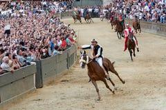 Beroemd paardenkoers` Palio Di Siena ` Stock Fotografie