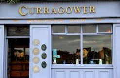 Beroemd restaurant, Curragower, met toekenning bij voordeur, limerick, Ierland, Oktober, 2014 Stock Fotografie
