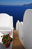 Beroemd Santorini eiland, Griekenland stock foto's