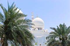 Beroemd Sheikh Zayed Grand Mosque, de V.A.E Stock Afbeelding