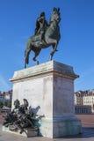 Beroemd standbeeld van Louis XIV stock afbeelding