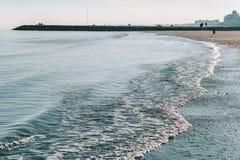 Beroemd strand in Venetië royalty-vrije stock foto