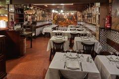 Beroemd traditioneel oud Spaans restaurant in Barcelona van Spanje, zijn naam Caracol Slak 12 09 2018 Spanje royalty-vrije stock foto