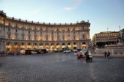 Beroemd vierkant in de stad van Rome stock afbeelding