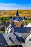 Beroemde Alcazar van Segovia, Castilla en Leon Stock Foto's