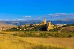 Beroemde Alcazar van Segovia, Castilla en Leon Stock Foto