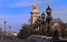 Beroemde Alexandre III brug in Parijs, Frankrijk royalty-vrije stock foto's