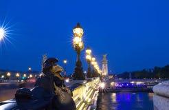 Beroemde Alexandre III brug in Parijs, Frankrijk royalty-vrije stock afbeeldingen