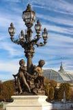 Beroemde Alexandre III brug in Parijs, Frankrijk stock foto's