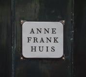 Beroemde Anne Frank House in Amsterdam - AMSTERDAM - NEDERLAND - 20 JULI, 2017 Stock Foto
