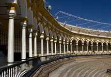 Beroemde arena in Sevilla Royalty-vrije Stock Afbeelding