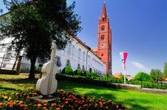 Beroemde baksteenkathedraal Stock Afbeelding