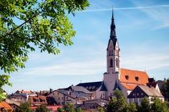 Beroemde Beierse kerk Royalty-vrije Stock Fotografie