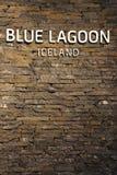 Beroemde Blue Lagoon Geothermal Spa in IJsland Stock Foto's