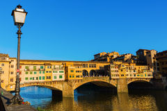 Beroemde brug Ponte Vecchio in Florence Royalty-vrije Stock Afbeelding