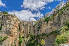 Beroemde brug in Ronda Royalty-vrije Stock Foto