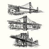 Beroemde bruggen Stock Afbeelding