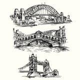 Beroemde bruggen Royalty-vrije Stock Fotografie