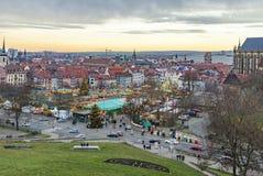 Beroemde christkindlmarkt in Erfurt, Duitsland Stock Afbeelding