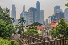 Beroemde Clubstraat in Singapore Stock Foto's