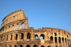 Beroemde Colosseum of Coliseum i royalty-vrije stock foto's
