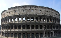 Beroemde Colosseum of Coliseum i stock foto
