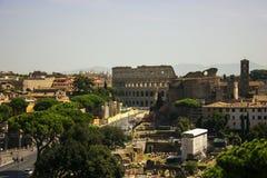 Beroemde Colosseum van Rome Stock Fotografie