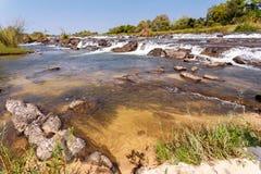Beroemde dalingen Popa van Caprivi, Noord-Namibië Royalty-vrije Stock Fotografie