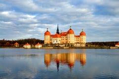 Beroemde de jachtmanor Moritzburg stock afbeelding