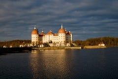 Beroemde de jachtmanor Moritzburg Stock Fotografie