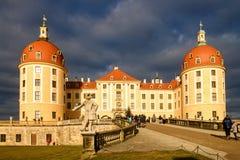 Beroemde de jachtmanor Moritzburg Stock Foto's
