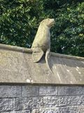 Beroemde Dierlijke Muur in het Kasteel van Cardiff, Cardiff, Wales, het UK royalty-vrije stock afbeelding