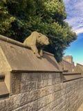 Beroemde Dierlijke Muur in het Kasteel van Cardiff, Cardiff, Wales, het UK royalty-vrije stock afbeeldingen