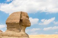 Beroemde Egyptische Sfinx in Giza dichtbij Kaïro stock afbeeldingen