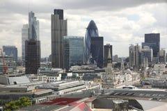 Beroemde financiële hub in Londen Stock Afbeelding