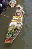 Beroemde het Drijven van Damnoen Saduak Markt - Bangkok, Thailand Royalty-vrije Stock Afbeeldingen