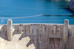 Beroemde Hoover-Dam bij van van Meerweide, Nevada en Arizona Grens stock fotografie
