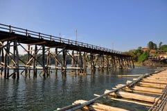 Beroemde houten Mon-brug Royalty-vrije Stock Fotografie
