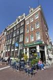 Beroemde koffie in de Oude Stad van Amsterdam. Royalty-vrije Stock Fotografie