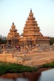 Beroemde kusttempel Mahabalipuram, Tamil Nadu, India Royalty-vrije Stock Fotografie
