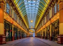 Beroemde Leadenhall-markt in Londen het Verenigd Koninkrijk stock foto