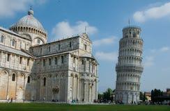Beroemde leunende toren van Pisa, Italië Royalty-vrije Stock Fotografie